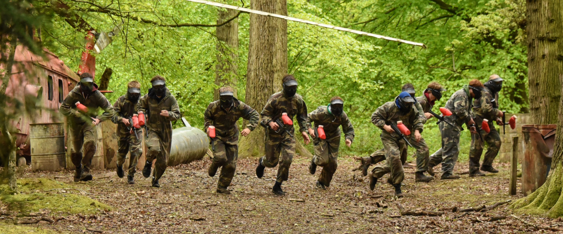 Paintballing at Oaker Wood